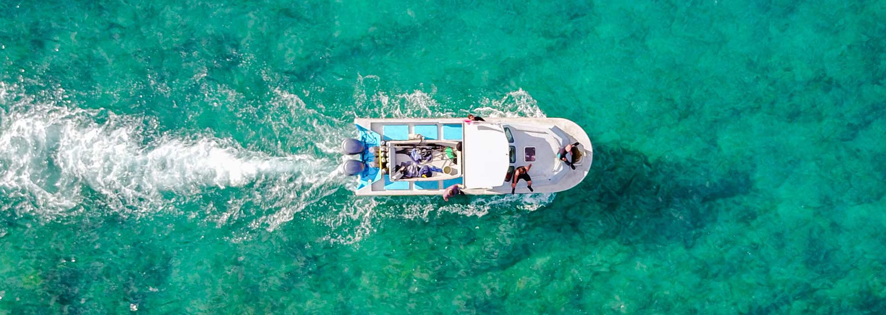 overhead boat on the ocean