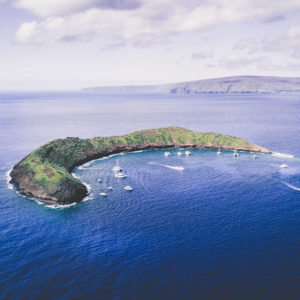 molokini crater maui with tourboats